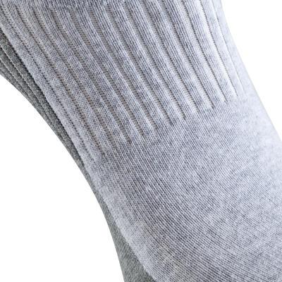 Жіночі шкарпетки Fit для катання на роликах - Сірі/Фуксія