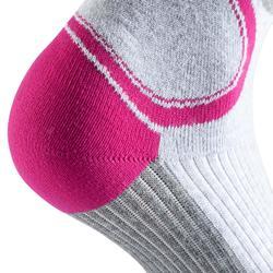 Skatesokken Fit voor dames grijs/fuchsia