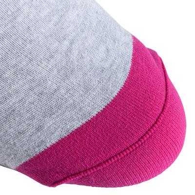 Chaussettes roller femme FIT grises et fuchsia