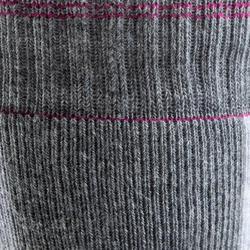 Chaussettes pour patins à roues alignées pour femme FIT grises et fuchsia