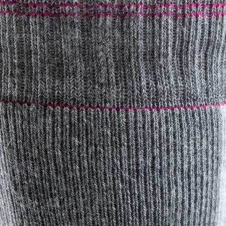 Fit Women's Inline Skating Socks - Grey/Fuchsia