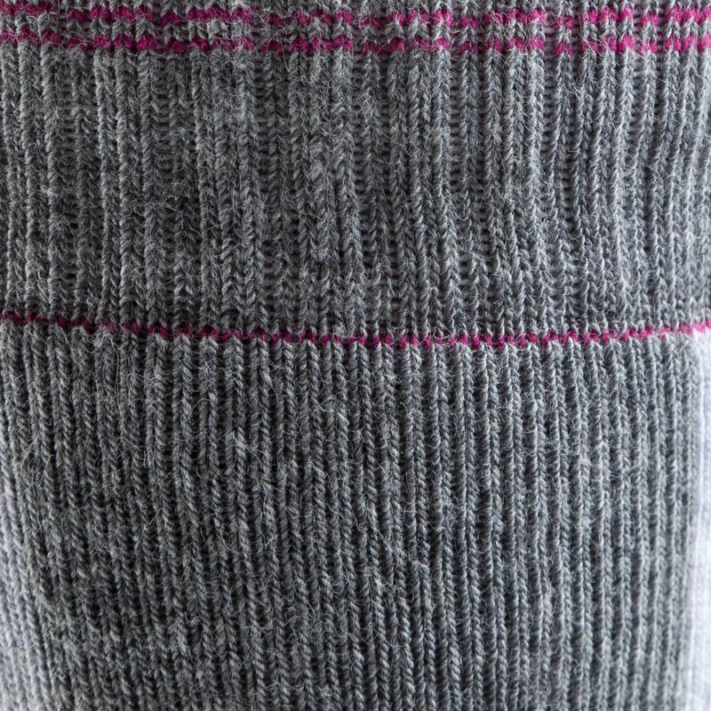 Fit Women's Roller Skating Socks - Grey/Fuchsia