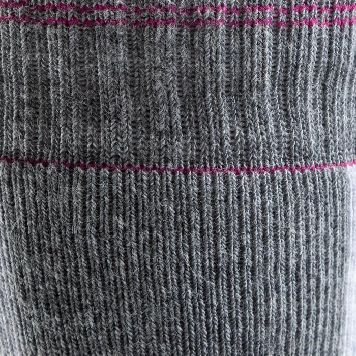 Chaussettes roller femme FIT grises et fuchsia - 143982