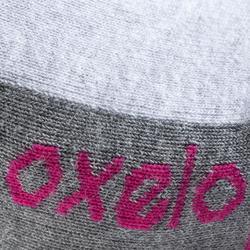 女款滑輪運動襪 FIT - 灰色紫紅配色