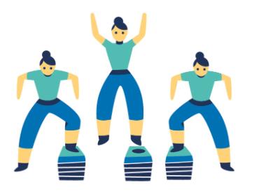 oefening 3 : lateral box shuffle