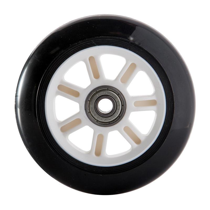 Rueda scooter 10 cm con rodamientos negro