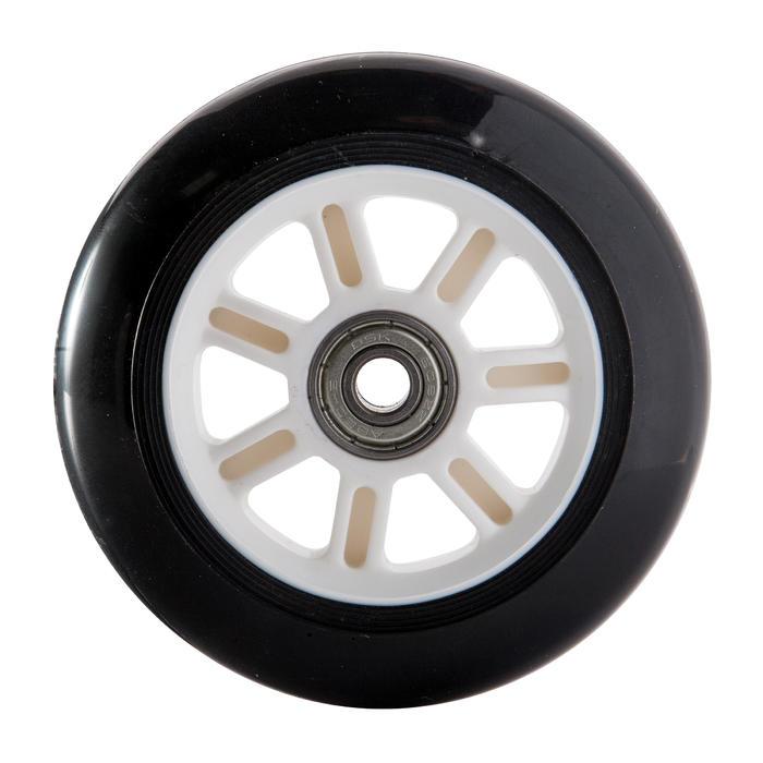 1 roue trottinette 100mm avec roulements noire - 143999