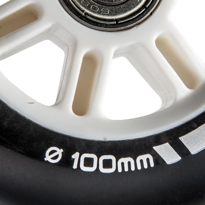 1 roue trottinette 100mm avec roulements noire - 144003