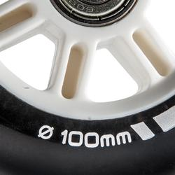 1 stepwiel 100 mm met lagers zwart