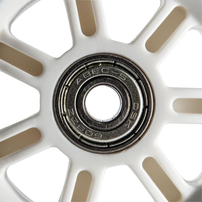 1 rueda patinete 100 mm con rodamientos negro