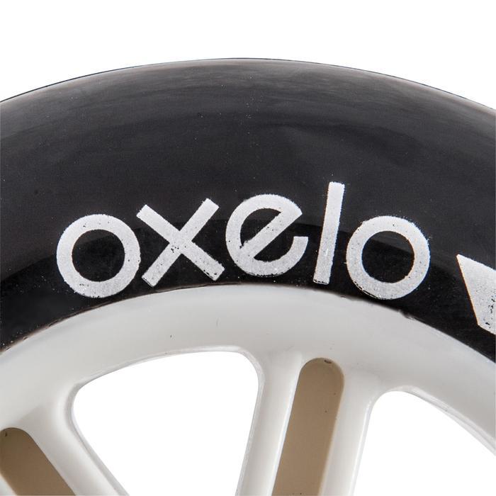 1 roue trottinette 100mm avec roulements noire - 144007