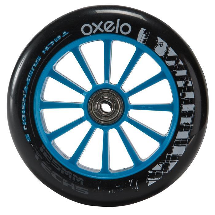 1 roue trottinette 125mm avec roulements noire - 144008