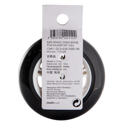 1 rueda monopatín 100 mm con rodamientos negro