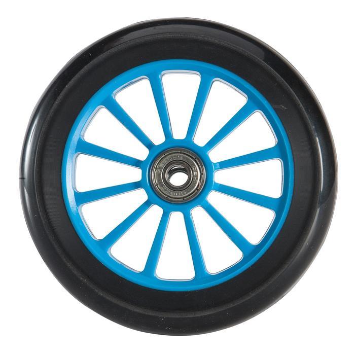 Scooter-Rolle 125 mm PU mit Kugellager blau