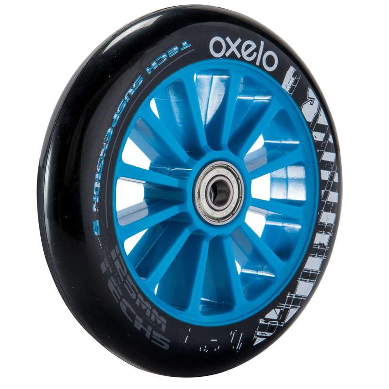 ACCESSORIES JUNIOR SCOOTERS DESLIZE URBANO - 1 Roda de Trotinete 125mm Azul OXELO - All Catalog BLUE