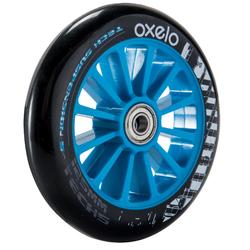 1 roue trottinette 125mm avec roulements bleue