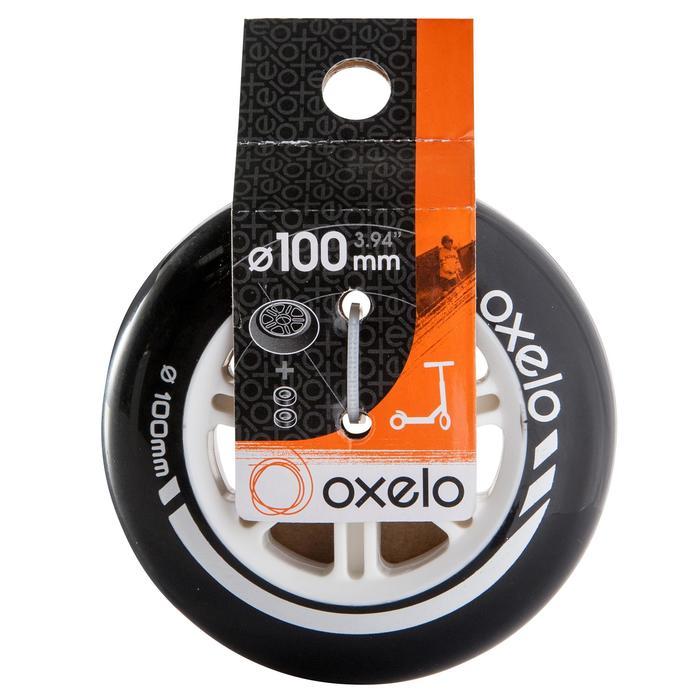 1 roue trottinette 100mm avec roulements noire - 144012