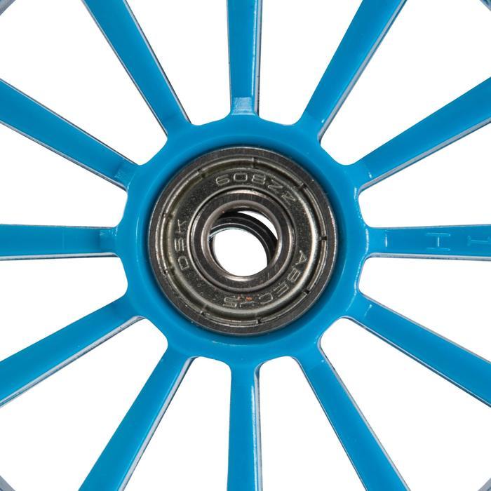 1 roue trottinette 125mm avec roulements noire - 144013