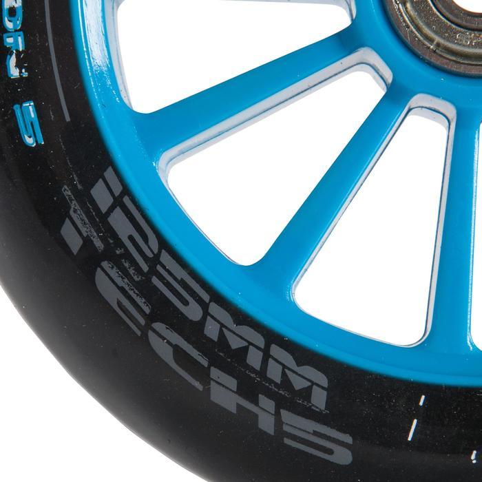 1 roue trottinette 125mm avec roulements noire - 144015