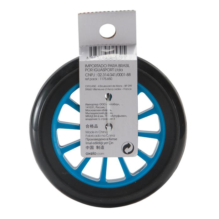 1 stepwiel 125 mm blauw met lagers