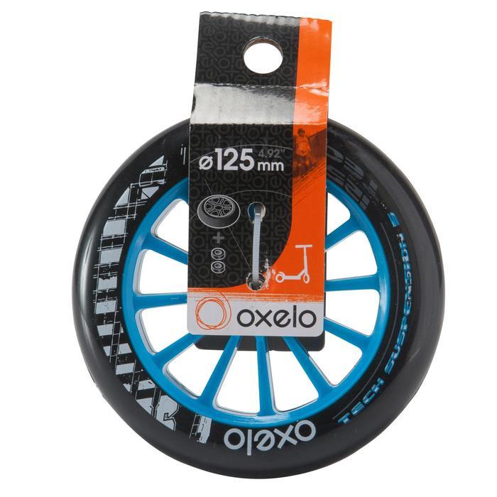 1 roue trottinette 125mm avec roulements noire - 144018