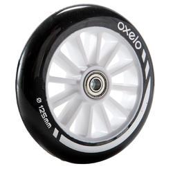 1 roue trottinette 125 mm avec roulements noire