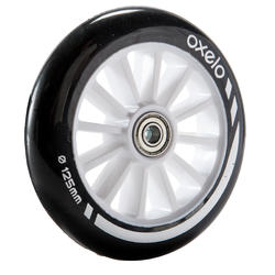 1 x 125 mm Scooter Wheel with Bearings - Black