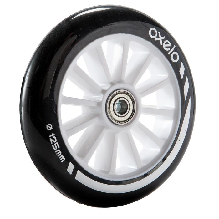 1 x 125 mm Scooter Wheel with Bearings - Black - 144019