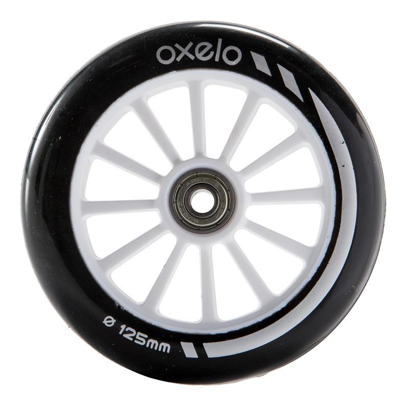 1 rueda para scooter de 125 mm con rodamientos negro