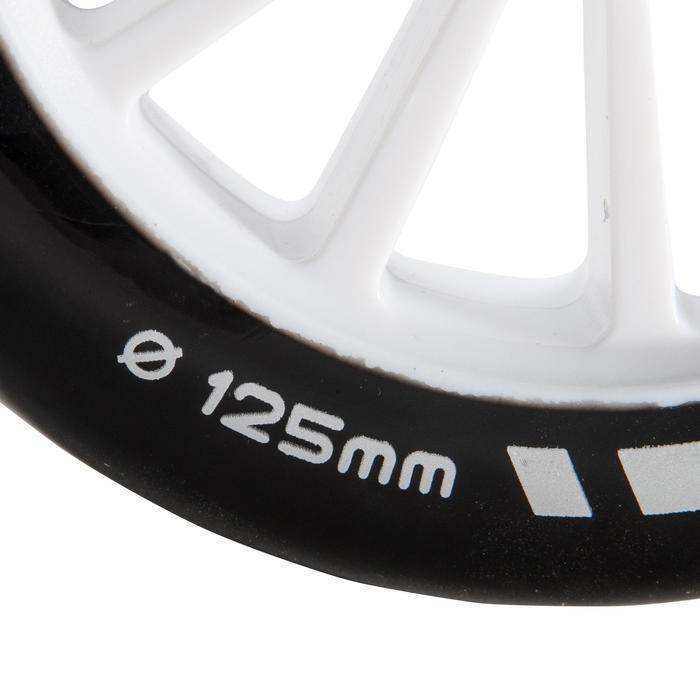1 roue trottinette 125mm avec roulements noire - 144021