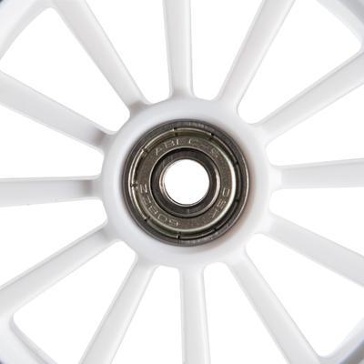 1 rueda para patineta de 125 mm con rodamientos negro