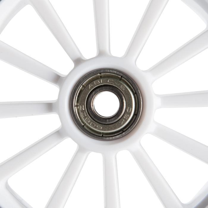 1 roue trottinette 125mm avec roulements noire - 144023