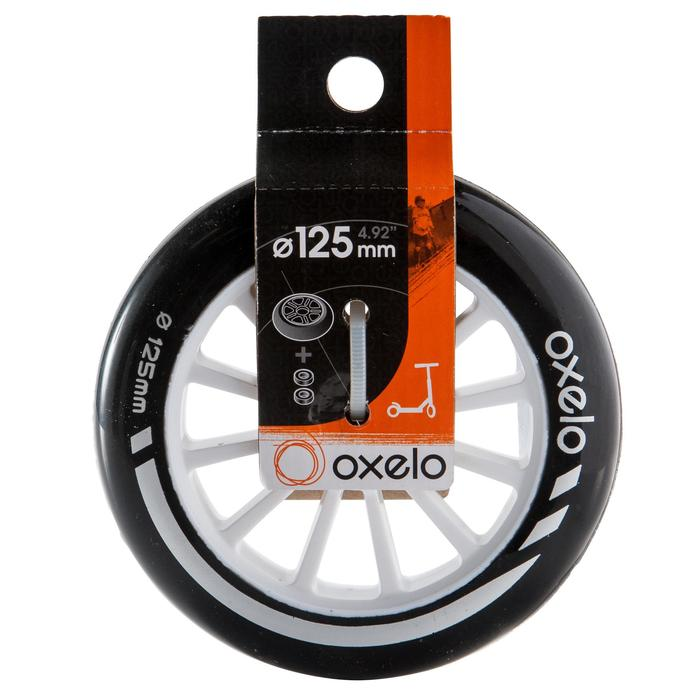 1 rueda para patinete de 125 mm con rodamientos negro