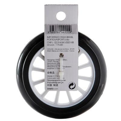 Rueda con rodamientos para monopatín 125 mm negro
