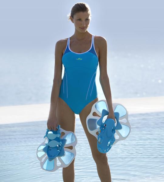zwemmen blauwzwembadpak