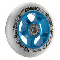 Колесо для самоката 1×100 мм, ПУ - Синій/Білий