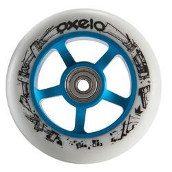 Roda de trotinete freestyle core alumínio azul PU branco 100 mm