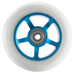 Scooter-Rolle PU 100mm weiß/blau