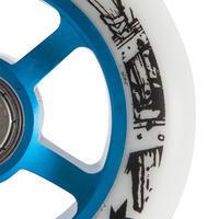 100mm Blue Alu Core White PU Freestyle Scooter Wheel