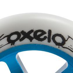Wiel voor freestylestep blauwe aluminium core zwart polyurethaan 100 mm