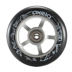 Roue trottinette freestyle core alu gris PU noir 100mm
