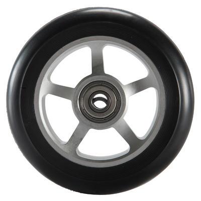Колесо для самоката 100 мм, алюміній і ПУ - Чорне