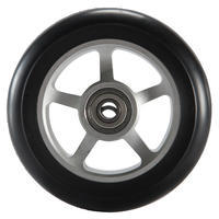 """100 mm """"Alu PU"""" paspirtuko ratas – juodas"""