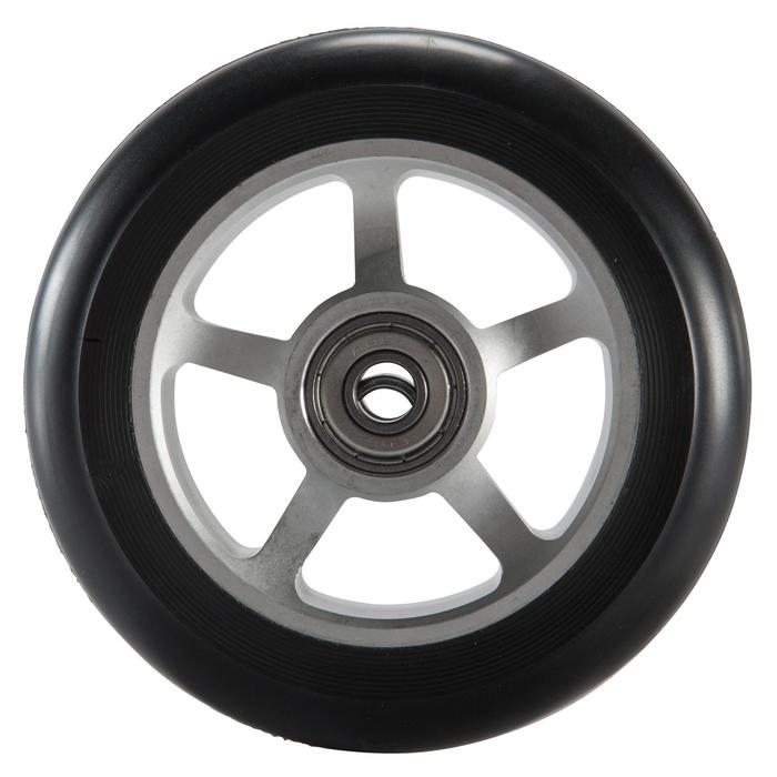 Roue trottinette PU alu noir 100 mm