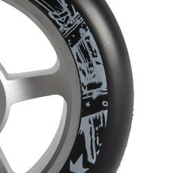 Rueda patinete PU de aluminio negro 100 mm