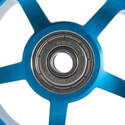 Roue trottinette freestyle core alu bleu PU blanc 100 mm