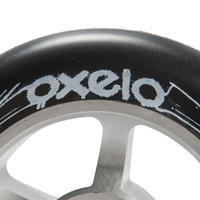 100mm Grey Alu Core Black PU Freestyle Scooter Wheel