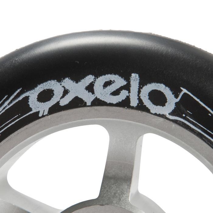 Wiel voor freestylestep grijze aluminium core zwart polyurethaan 100 mm