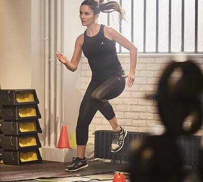 Fitness cardio training vrouwen