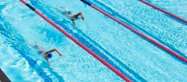 compétition de natation mixte